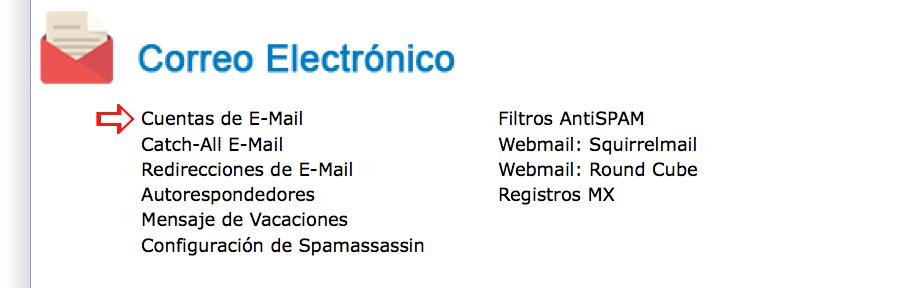 Cuentas de E-mail