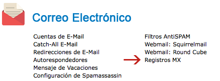 Registros MX