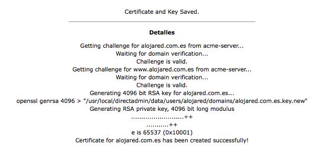 Activar SSL Let's Encrypt